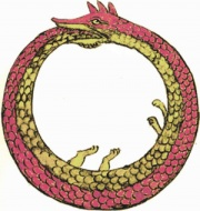 The Ouroboros, from an alchemical manuscript.